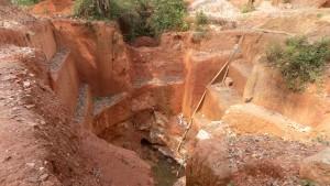Mining hole